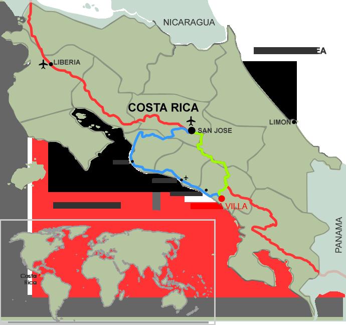 Location - Villa Mayana - Achiote, Costa Rica